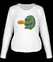 Женская футболка с длинным рукавом Я сделяль
