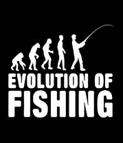 Детская футболка  Эволюция рыбалки