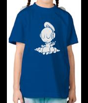 Детская футболка  Ангел в наушниках