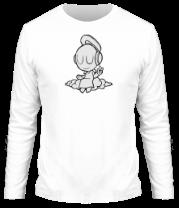 Мужская футболка с длинным рукавом Ангел в наушниках