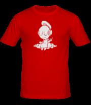Мужская футболка  Ангел в наушниках