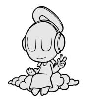 Толстовка без капюшона Ангел в наушниках