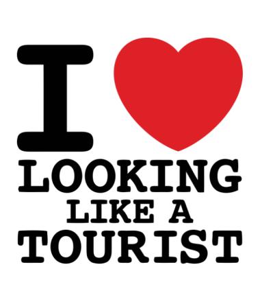 Толстовка без капюшона I Love Looking Like A Tourist