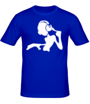 Мужская футболка  Девочка DJ