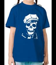 Детская футболка  Череп в фуражке