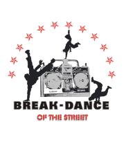 Женская майка борцовка Break-dance