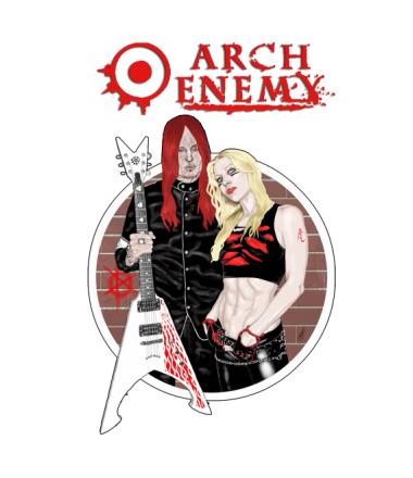 Коврик для мыши Arch Enemy. Michael and Angela.