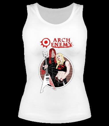 Женская майка борцовка Arch Enemy. Michael and Angela.
