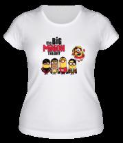 Женская футболка  Большой взрыв миньонов