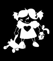 Женская майка борцовка Злая девочка