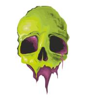 Толстовка Зеленый череп