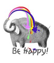 Толстовка без капюшона Радужный слон