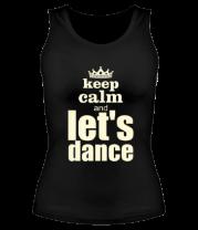 Женская майка борцовка Let's dance light