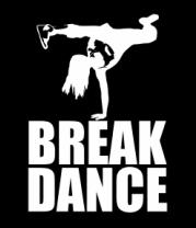 Толстовка без капюшона Break dance girl