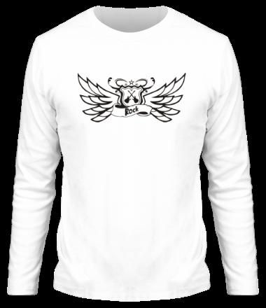 Мужская футболка с длинным рукавом Rock крылья