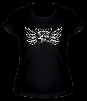 Женская футболка  Rock крылья