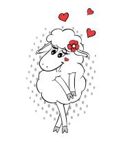 Детская футболка  Влюбленная овечка