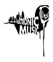 Футболка поло мужская Electronic music