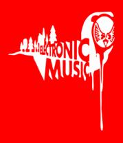 Мужская футболка с длинным рукавом Electronic music