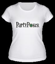 Женская футболка  Party poker