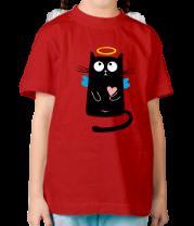 Детская футболка  Кот ангелочек