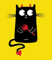 Детская футболка  Кот дьяволёнок