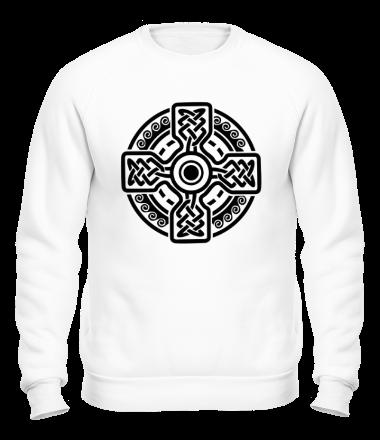 Толстовка без капюшона Кельтский круг с крестом
