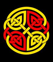 Толстовка без капюшона Двойной кельтский узор