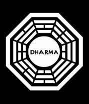 Мужская майка Dharma logo (lost)
