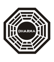 Мужская футболка с длинным рукавом Dharma logo (lost)