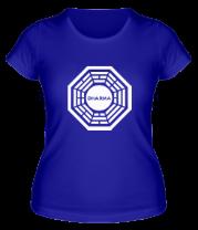 Женская футболка  Dharma logo (lost)