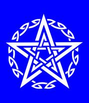 Женская футболка  Звезда и кельтский узор
