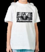 Детская футболка  Славик наблюдает за тобой Eng