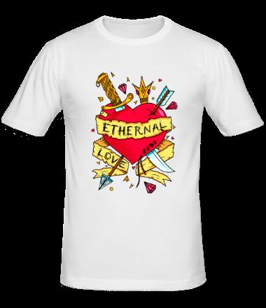 Мужская футболка  Вечная любовь