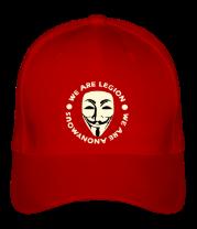 Бейсболка Маска Анонимуса - We Are Legion (свет)