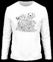 Мужская футболка с длинным рукавом Граффити
