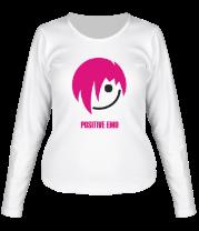 Женская футболка с длинным рукавом Positive Emo