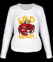 Женская футболка с длинным рукавом Wild beach