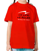 Детская футболка  My Life My Rules