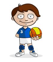Детская футболка  Volley