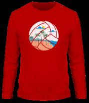 Мужская футболка с длинным рукавом Пляжный Волейбол