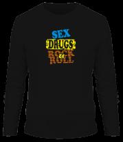 Мужская футболка с длинным рукавом Sex Drugs Rock'n'Roll