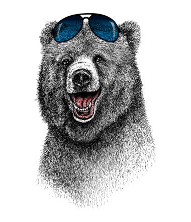 Толстовка без капюшона Счастливый Медведь