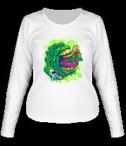 Женская футболка с длинным рукавом Лизун