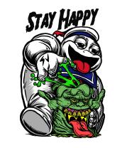 Женская майка борцовка Stay Happy
