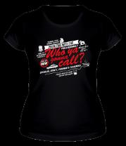 Женская футболка  Лучше позвонить парням в сером