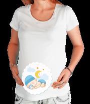 Футболка для беременных Малыш спит