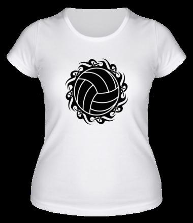 Женская футболка  Волейбольный мяч
