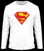Мужская футболка с длинным рукавом Superman