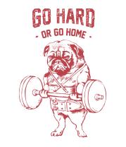 Детская футболка  Go Hard or Go Home